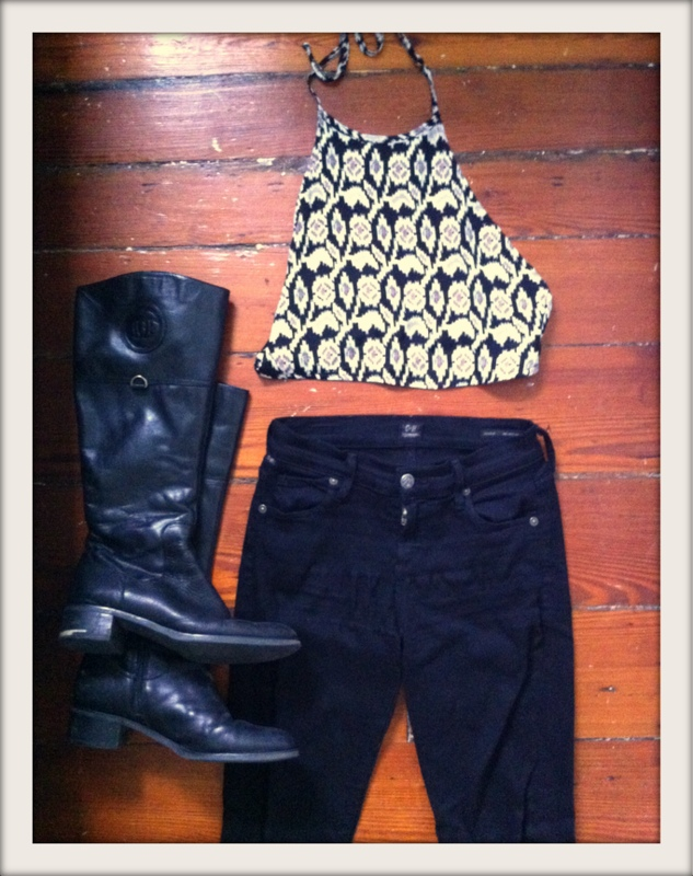 #citizensofhumanity #skinnyjeans #avedon #bloomingdales #halter #boots #etienneaigner #style
