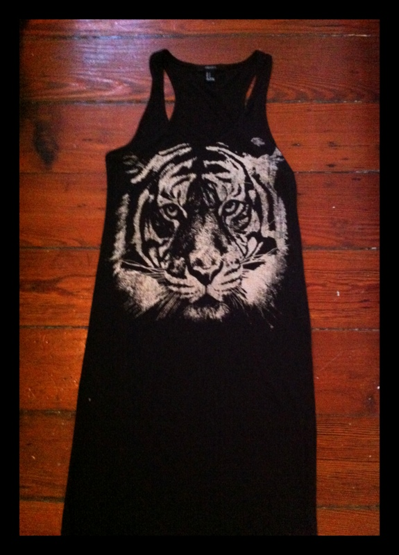 #midi #dress #tiger #wildtigerdress