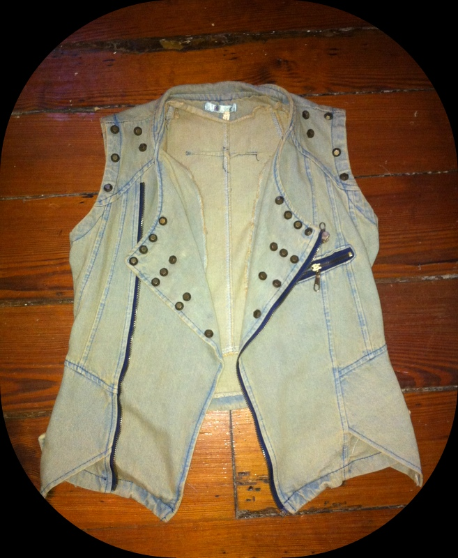 #denim #denimvest #studded #zippers #nastygal