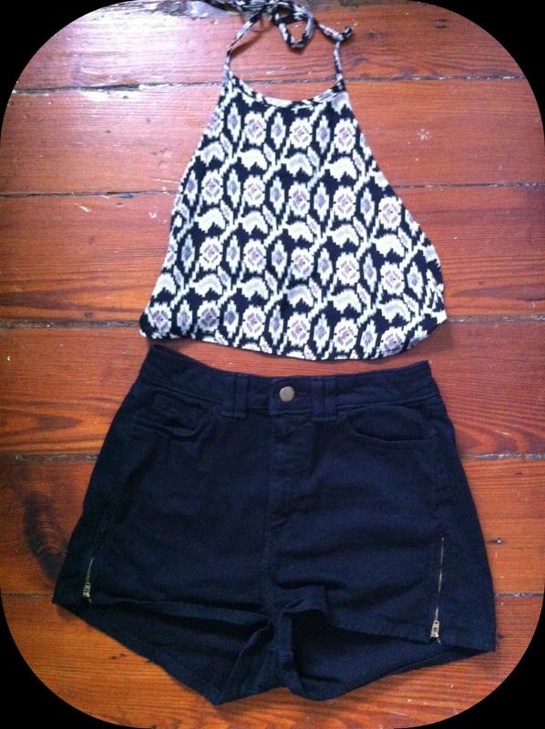 #halter #top #highwaisted #shorts #americanapparel