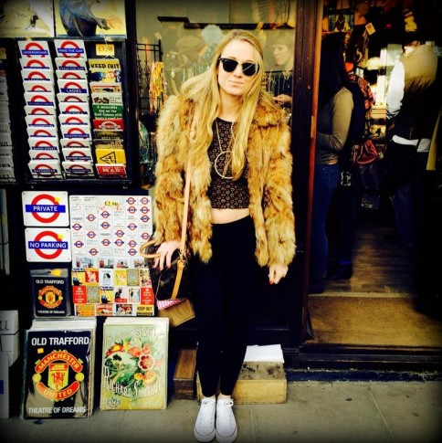 #fur #jacket #vintage #topshop #thrifted #converses #london #portobelloroad #market