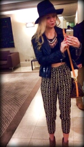#harem #pants #fedora #leather #burberry #spikes #necklace